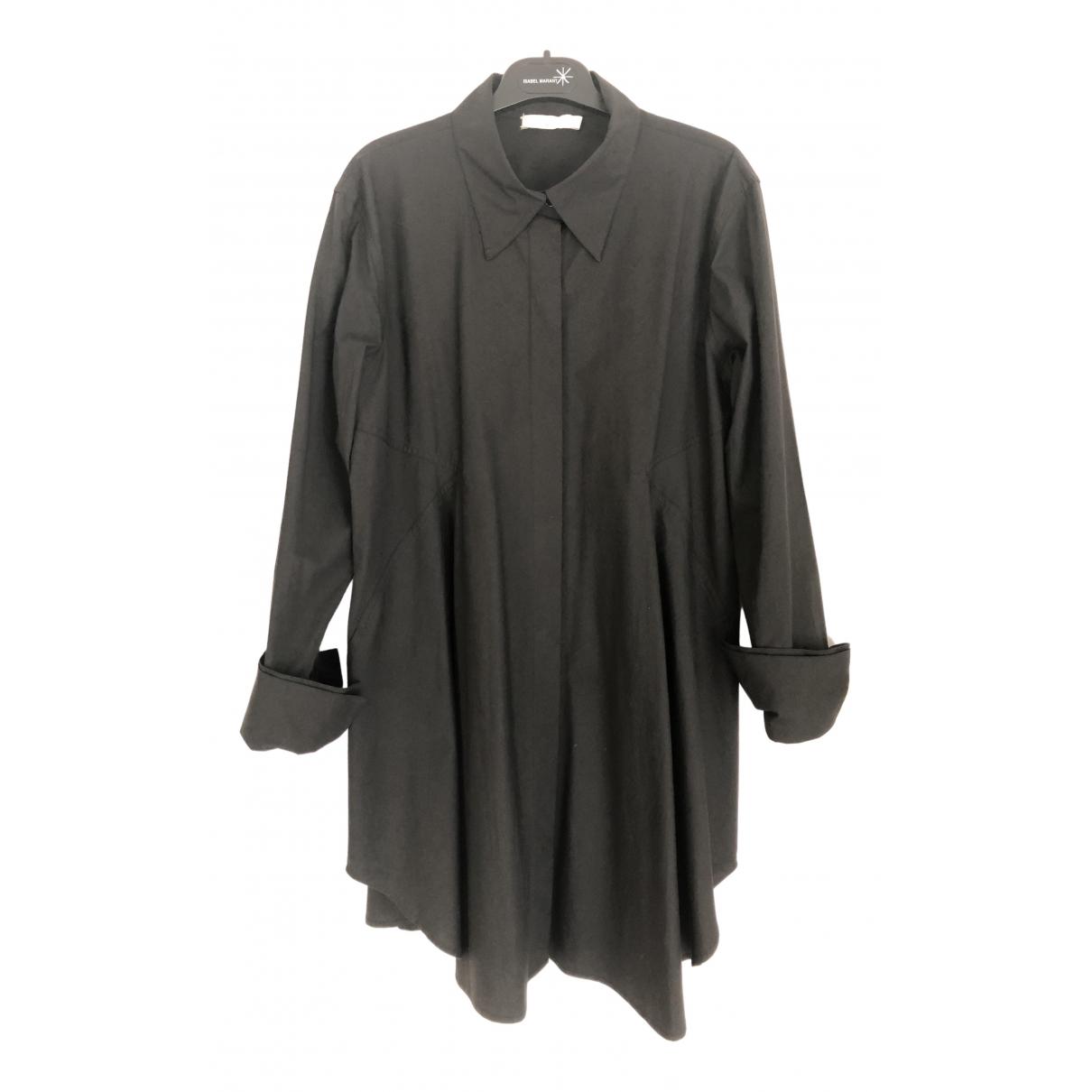 Donna Karan N Black Cotton - elasthane dress for Women 46 IT