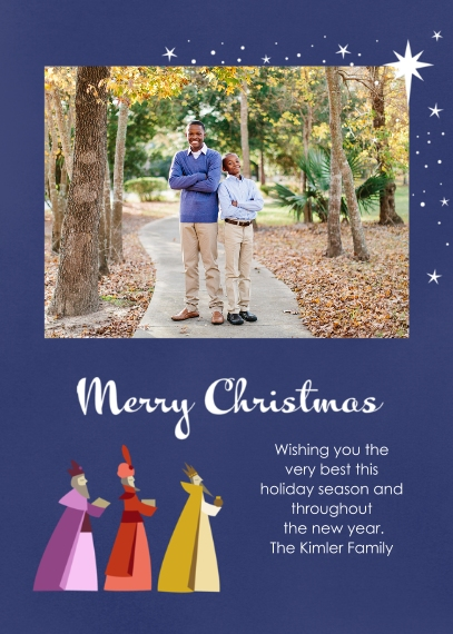 Christmas Photo Cards 5x7 Folded Cards, Premium Cardstock 120lb, Card & Stationery -Majestic Kings