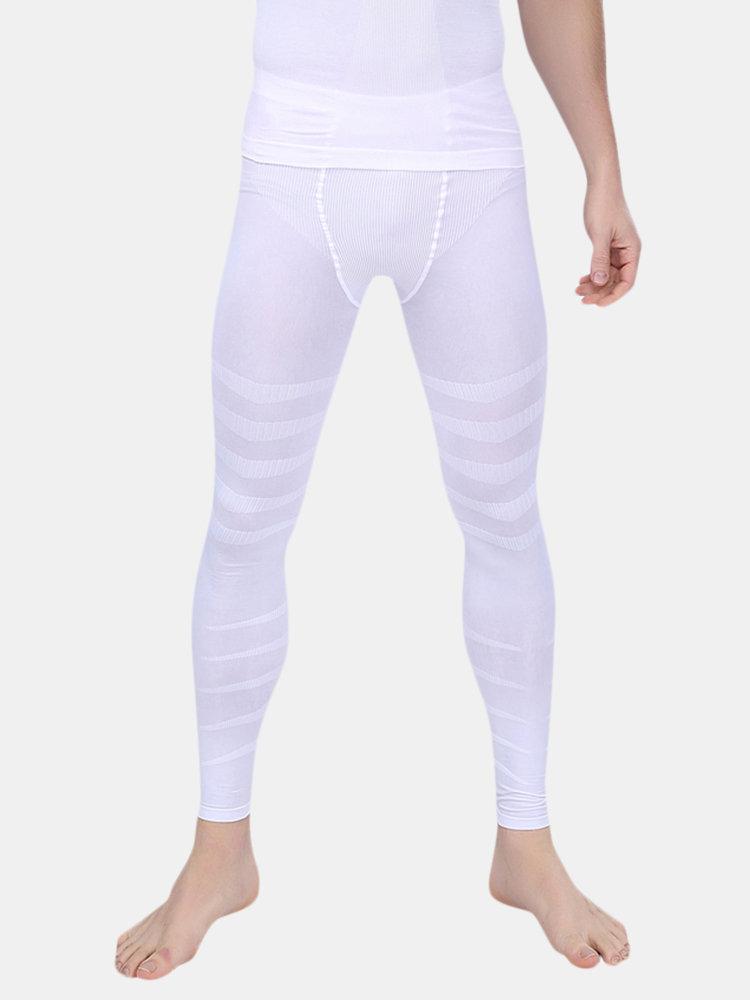 Men Seamless Thin Compression High Waist Underwear High Elastic Skinning Control Legging Pans