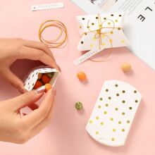 10 piezas set de caja de dulce con estampado en caliente