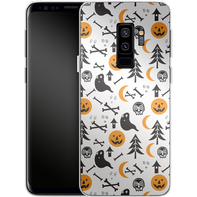 Samsung Galaxy S9 Plus Silikon Handyhuelle - Halloween Mix von caseable Designs