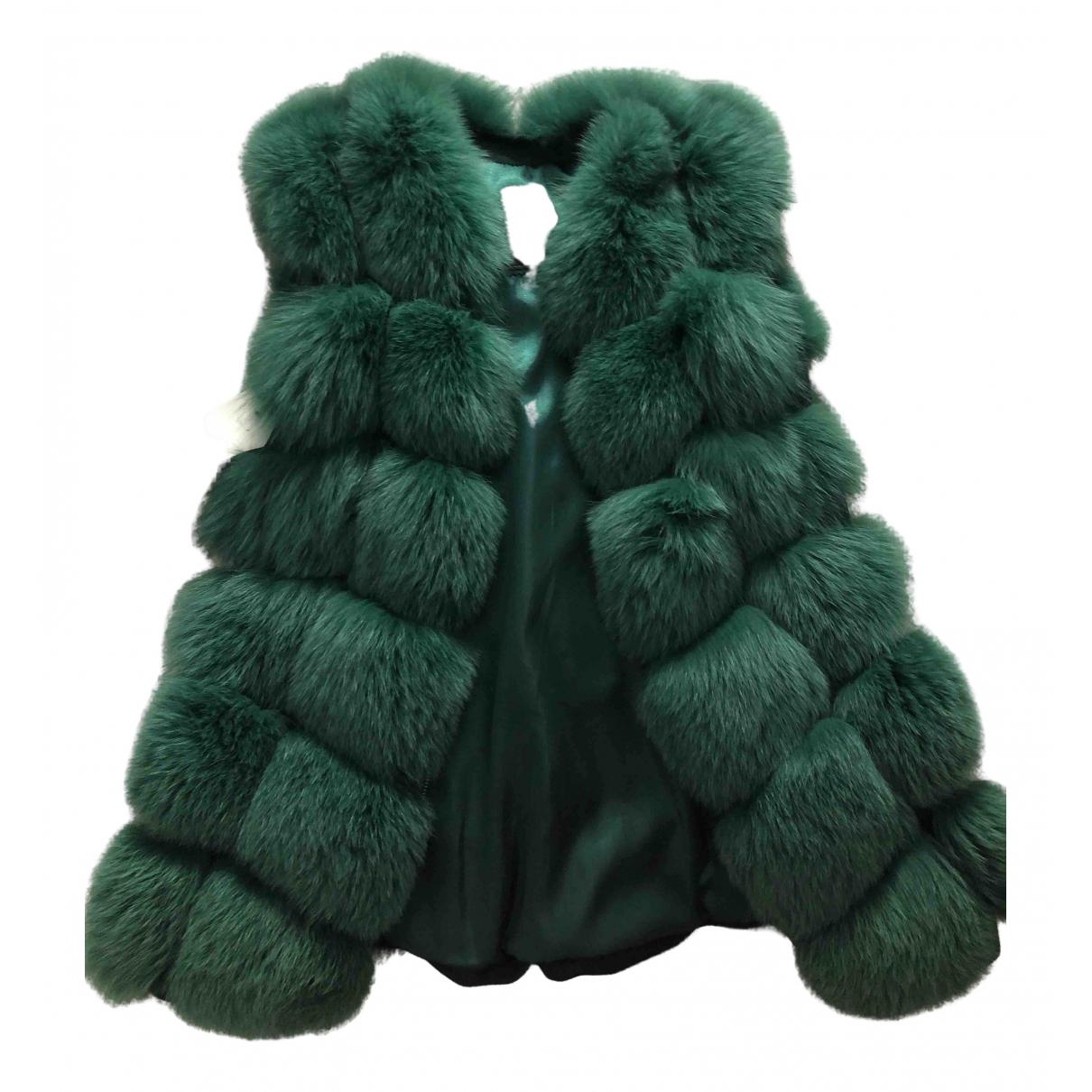 - Veste   pour femme en renard - vert