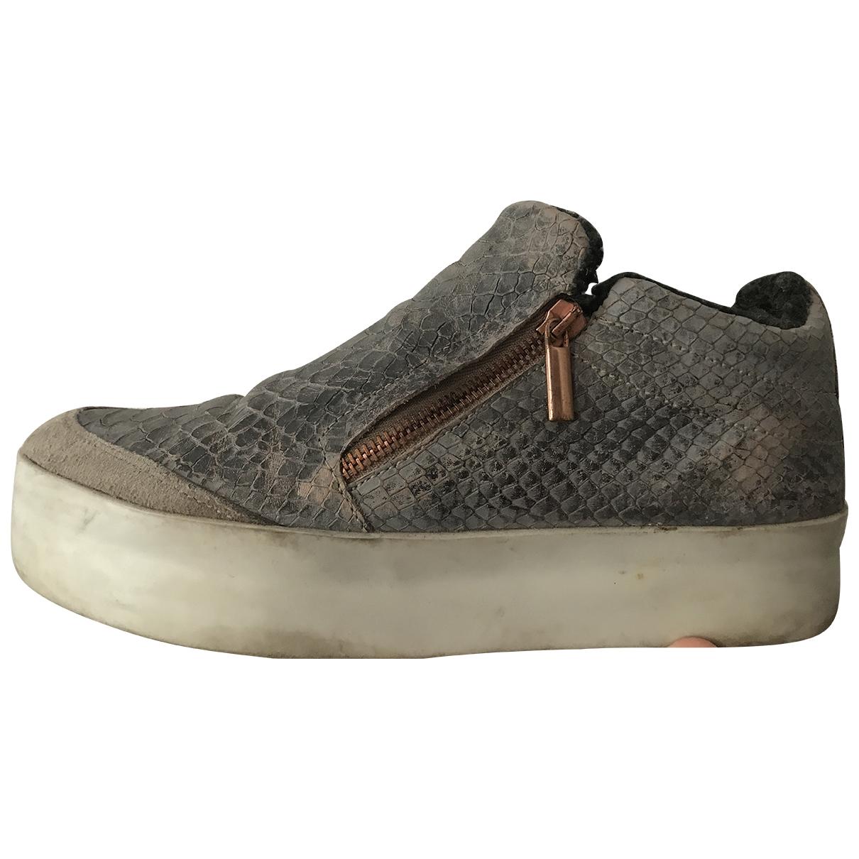 Alexander Smith \N Sneakers in  Anthrazit Leder