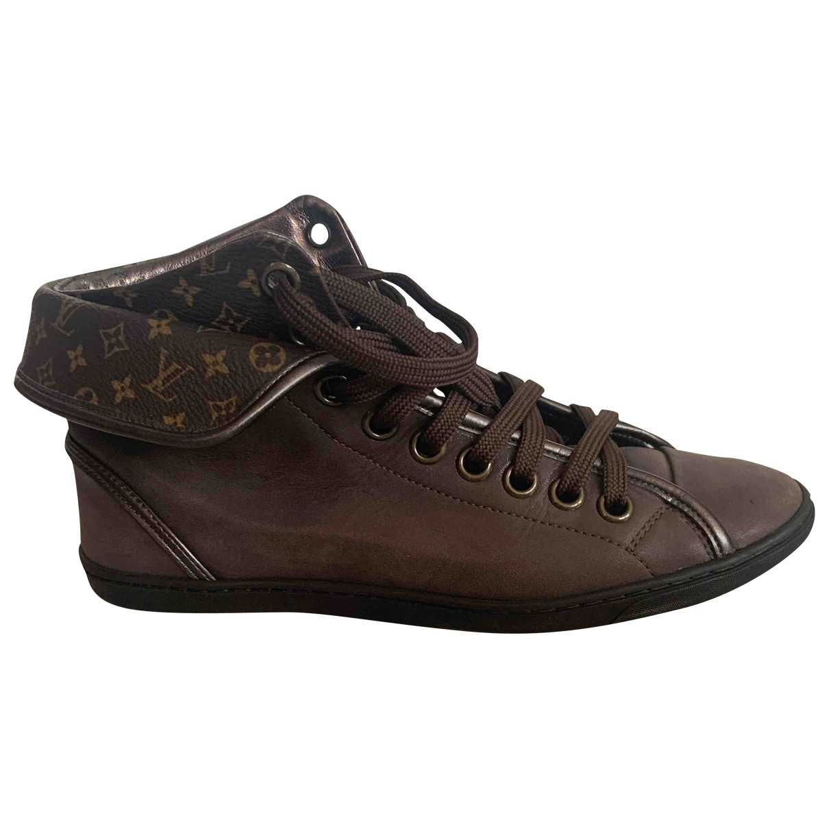 Louis Vuitton \N Brown Leather Trainers for Women 36 EU