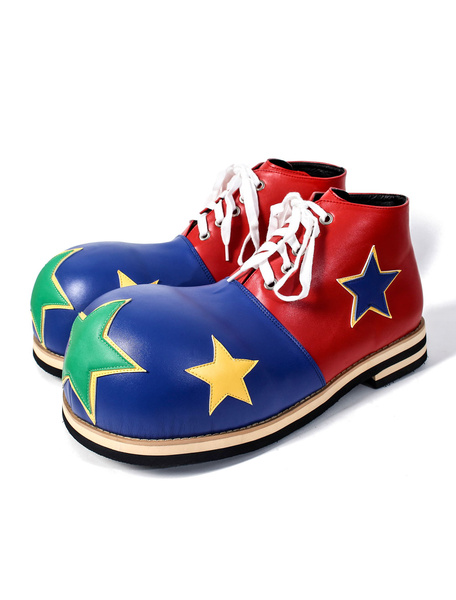 Milanoo Halloween Funny Circus Clown Polyurethane Cosplay Shoes