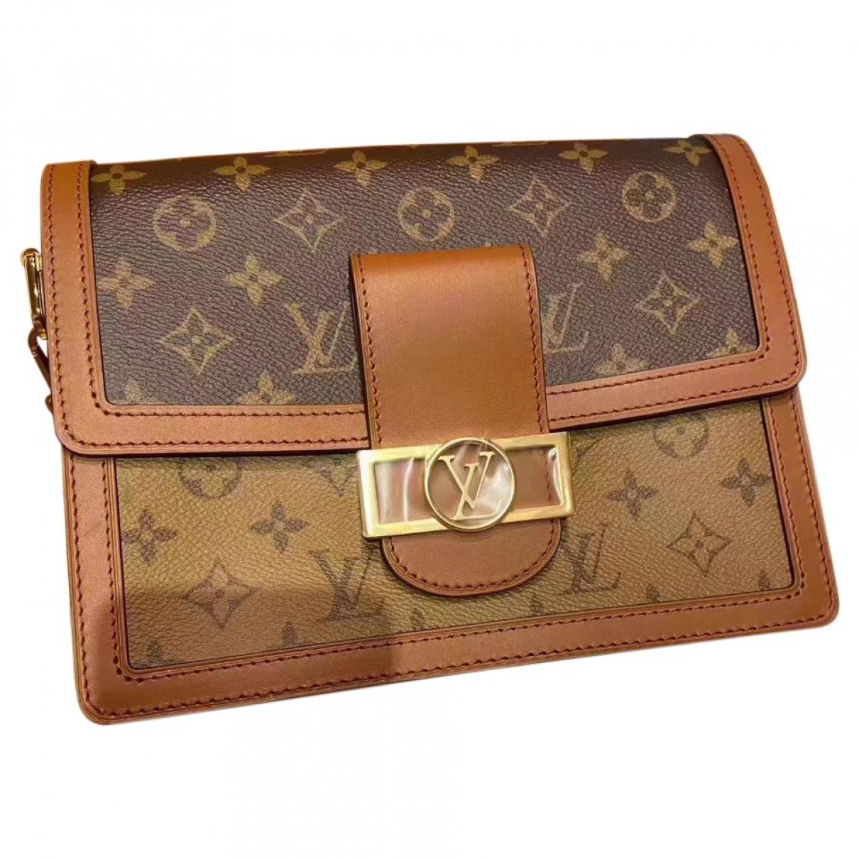 Louis Vuitton - Sac a main Dauphine MM pour femme en toile - marron
