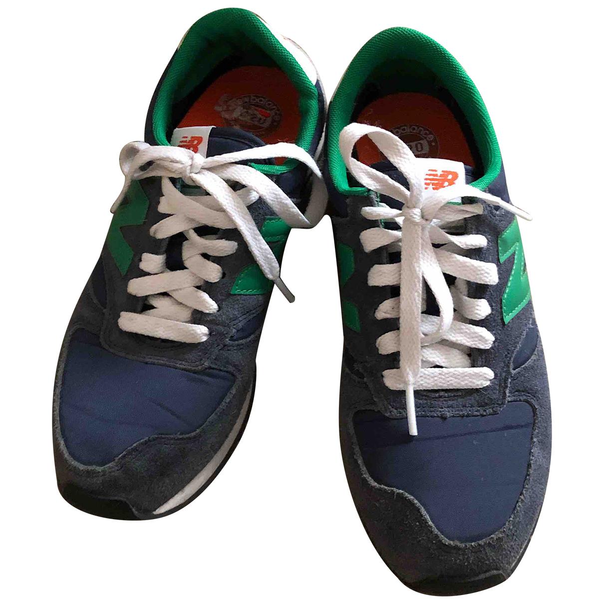 New Balance - Baskets   pour femme en suede - bleu