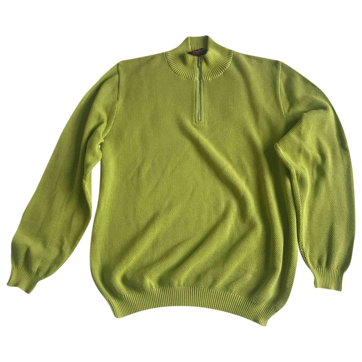 Non Signé / Unsigned \N Green Cotton Knitwear & Sweatshirts for Men XL International