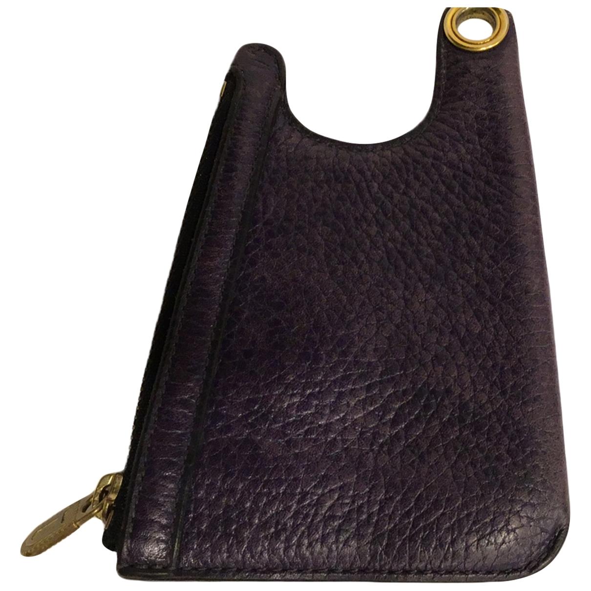 Delvaux - Petite maroquinerie   pour femme en cuir - violet