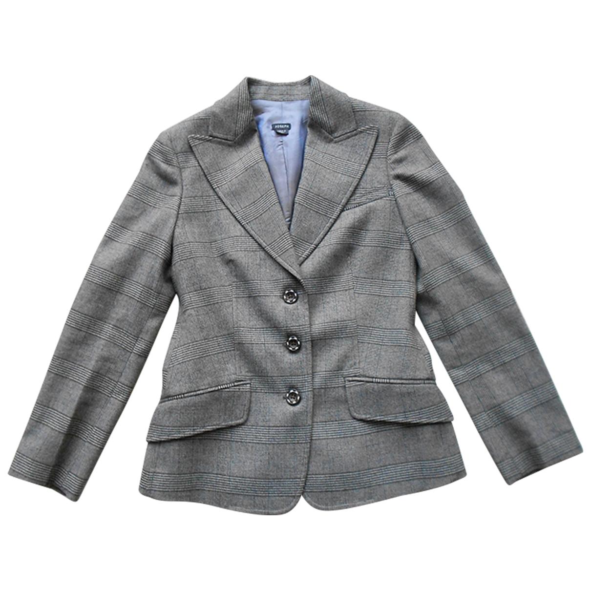 Joseph - Veste   pour femme en laine - gris