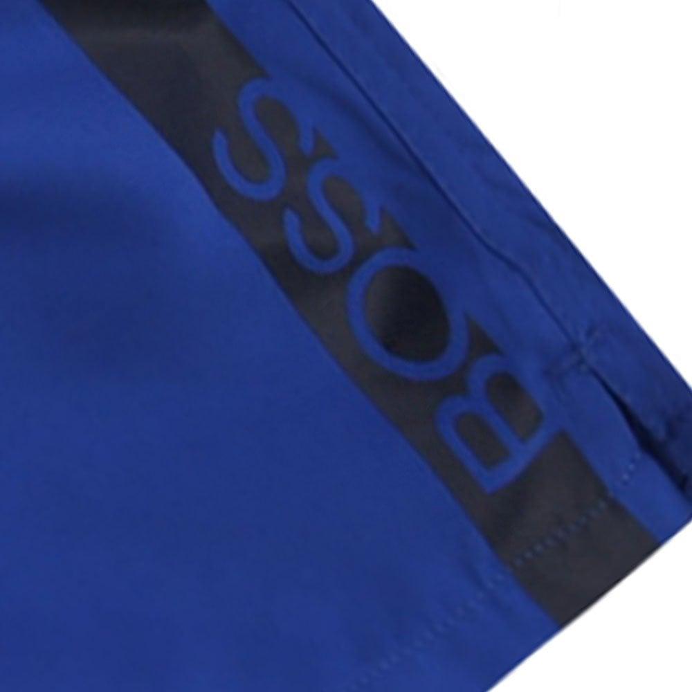 Hugo Boss Kids Waist Logo Swimshorts Colour: BLUE, Size: 12 YEARS