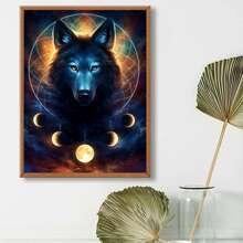 Diamand Malerei mit Wolf Muster