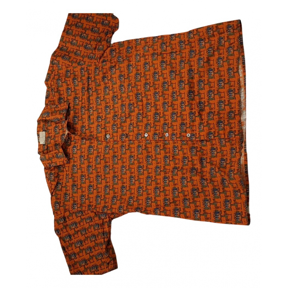 Salvatore Ferragamo - Chemises   pour homme en coton - orange