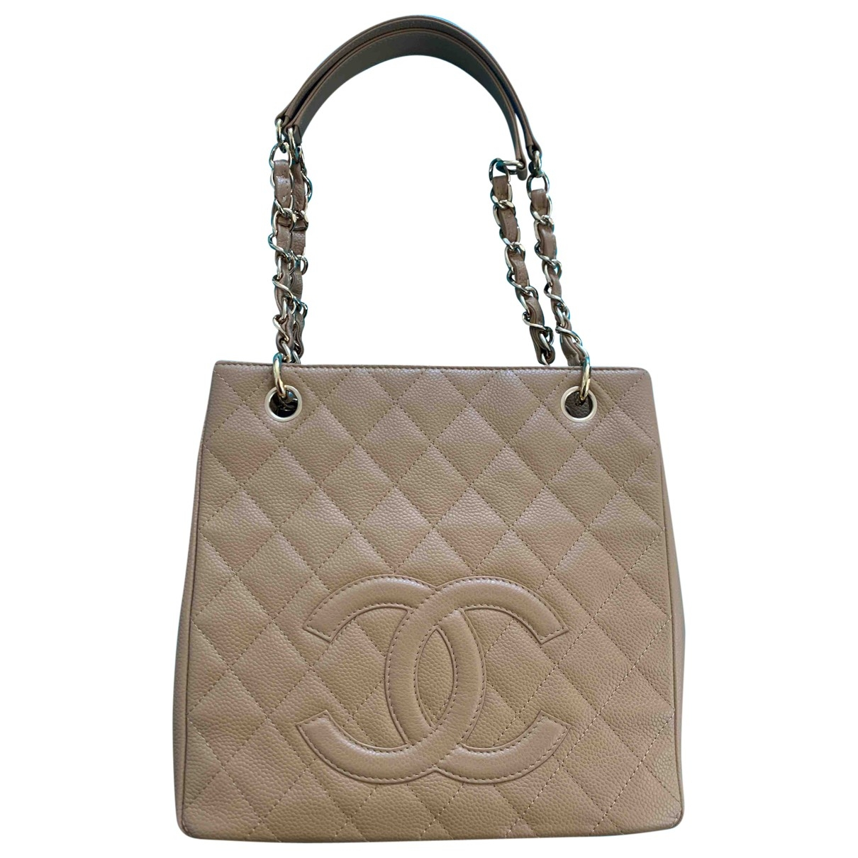 Chanel Petite Shopping Tote Handtasche in  Beige Leder