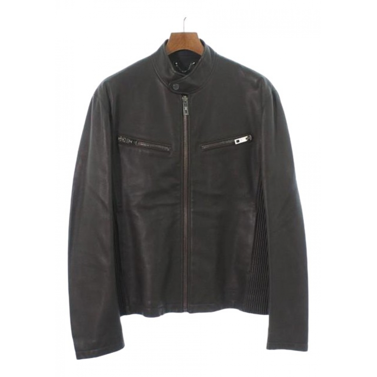 Louis Vuitton \N Jacke in  Grau Leder