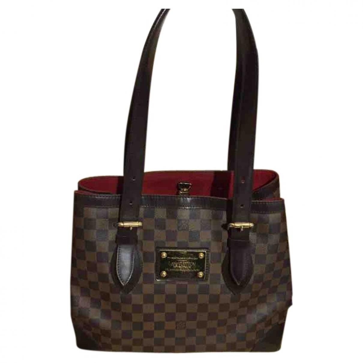 Louis Vuitton Hampstead Handtasche in  Braun Leinen