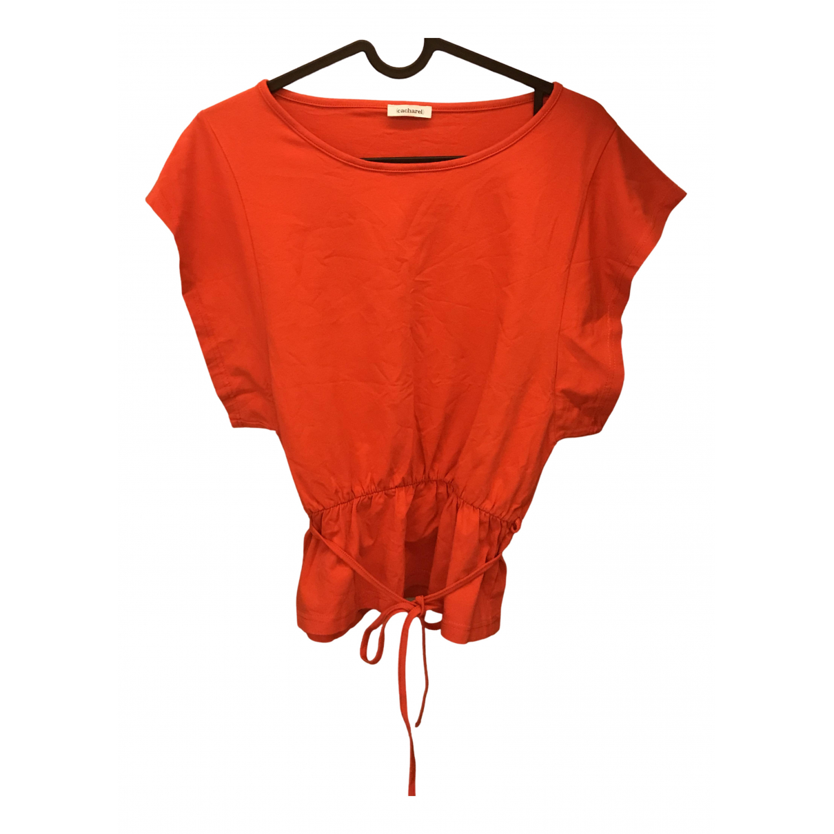 Cacharel N Red Cotton  top for Women 40 IT