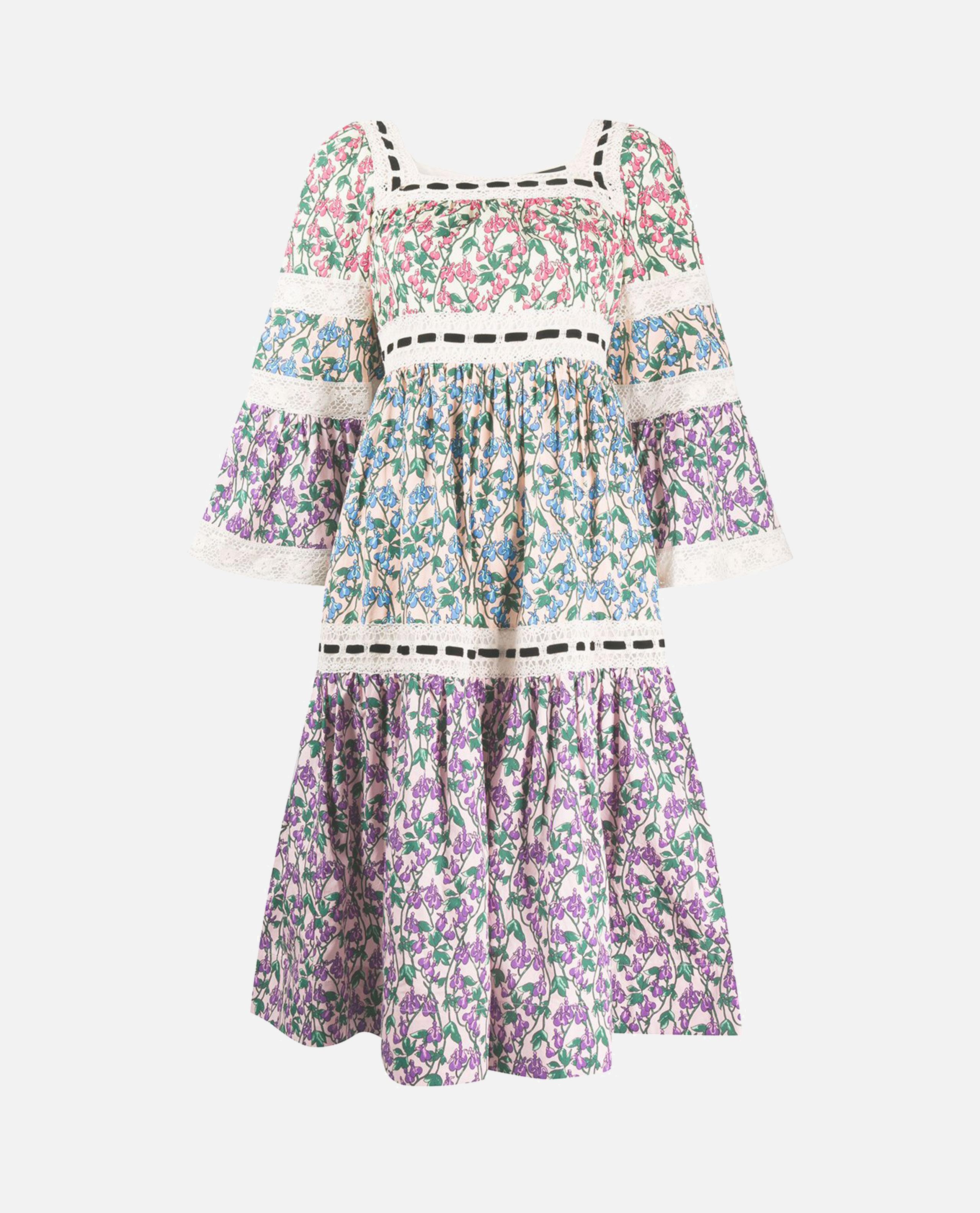 Multicolored floral cotton dress
