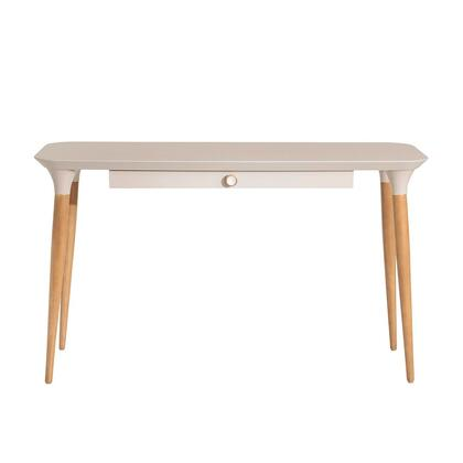 253251 HomeDock Office Desk with Internal Organization in Off White and