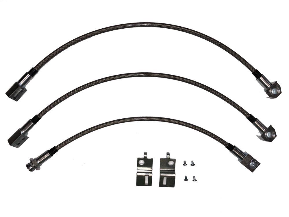 Fine Lines HSK0031SS Brake Hose Kit For 67 Mopar B-Body w/ Dana Kit Braided Stainless