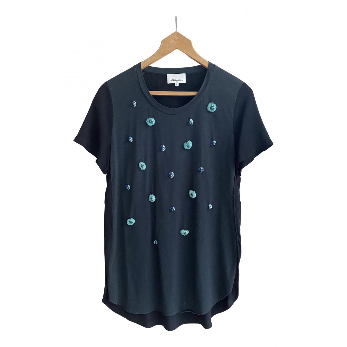 3.1 Phillip Lim - Top   pour femme en coton - bleu