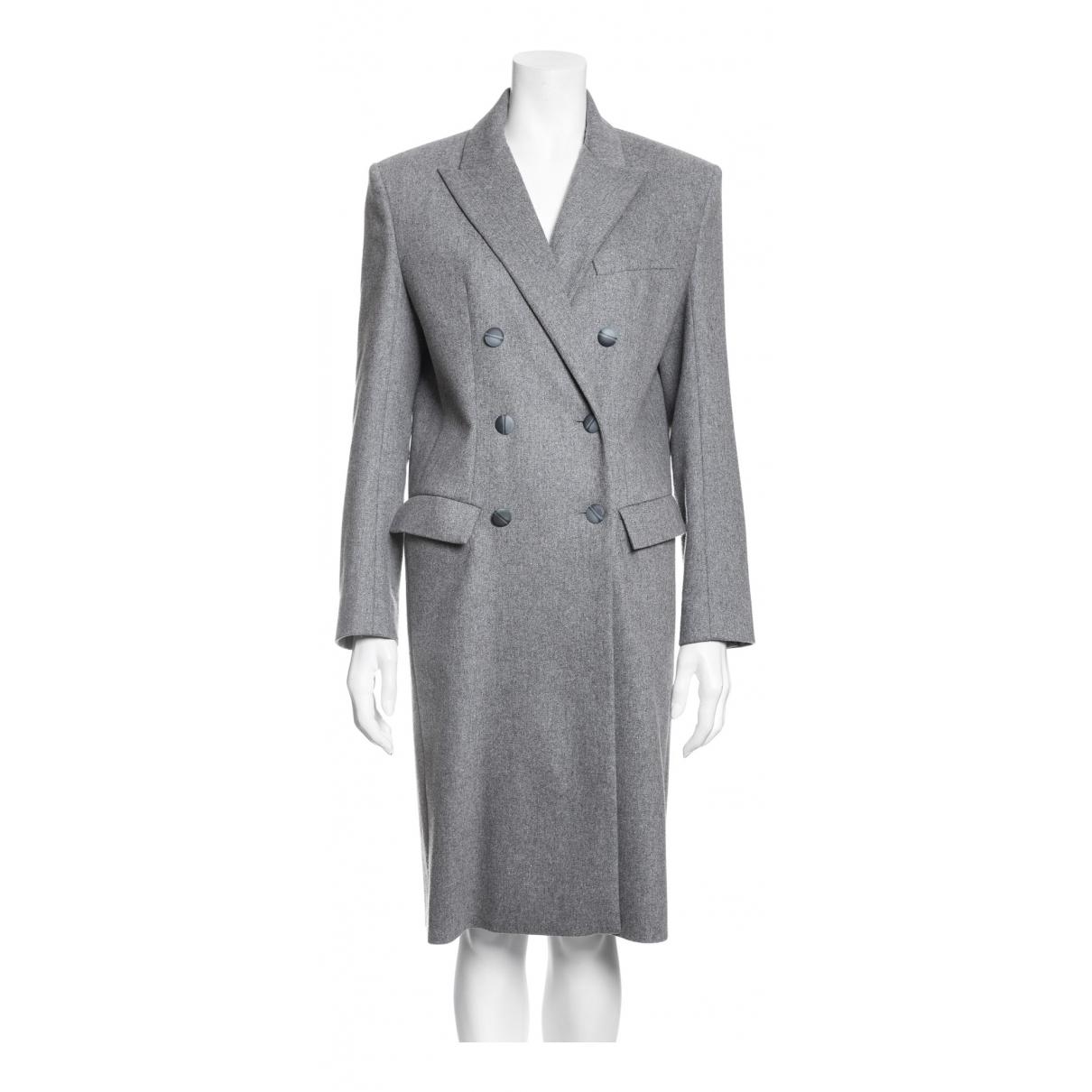 Alexandre Vauthier - Manteau   pour femme en laine - gris