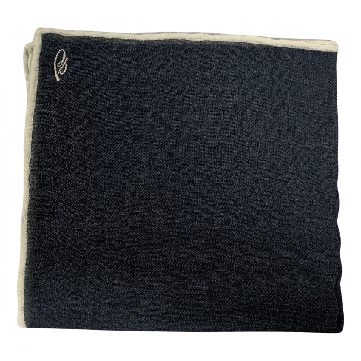 Brioni \N Grey Wool scarf & pocket squares for Men \N