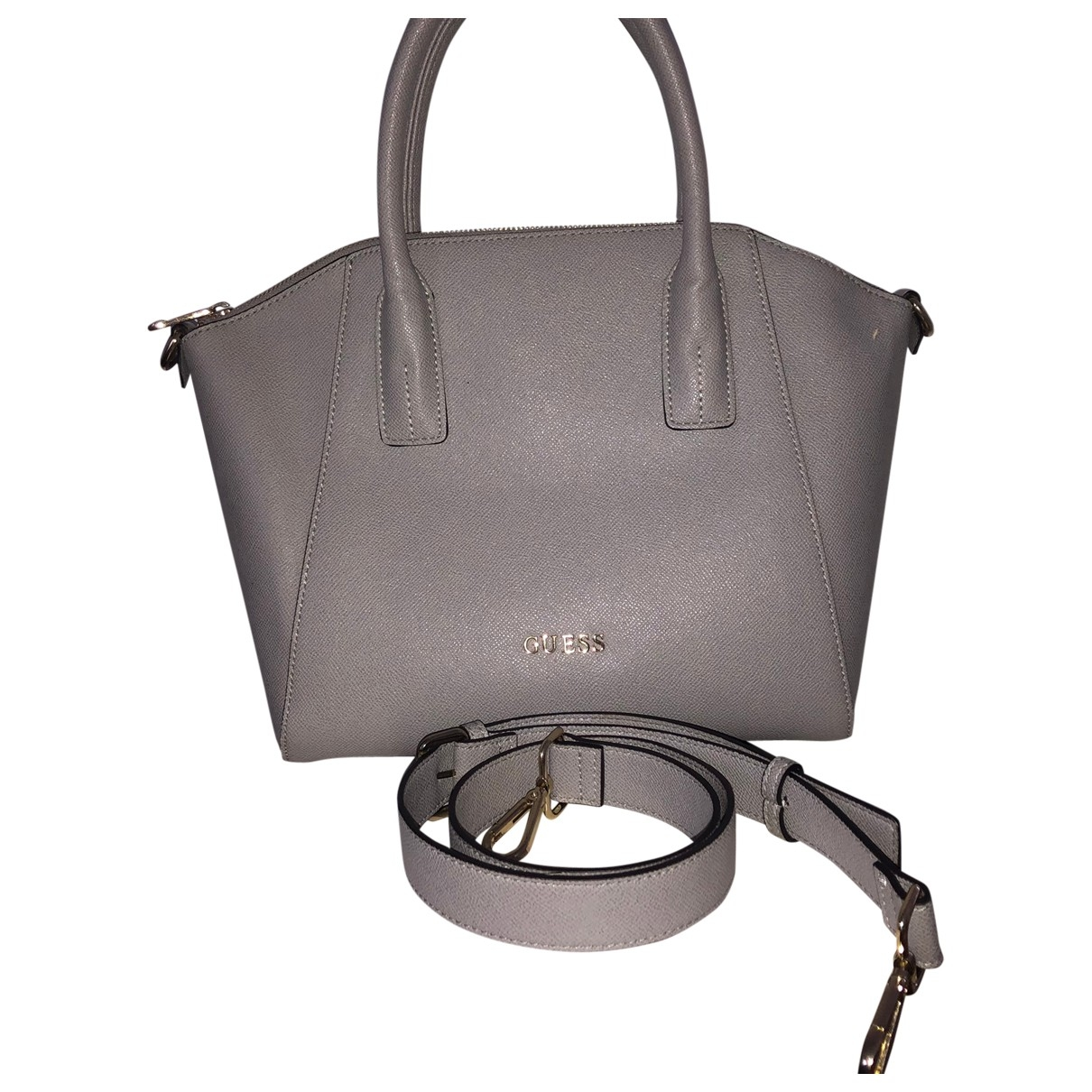 Guess \N Grey Patent leather handbag for Women \N