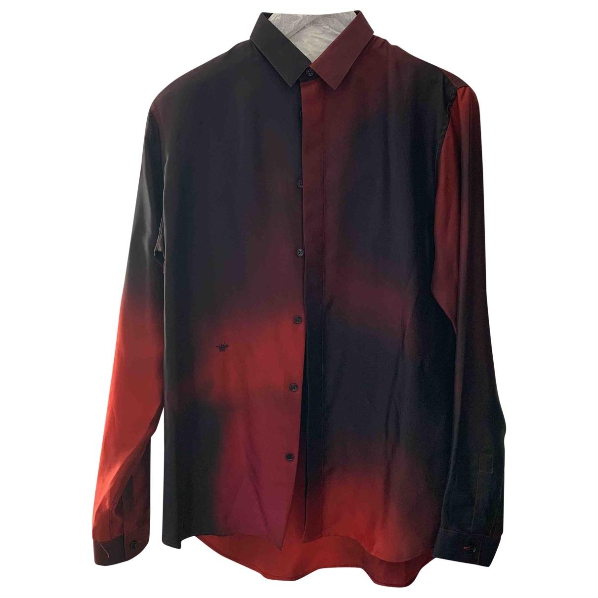 Dior Homme \N Hemden in  Rot Seide