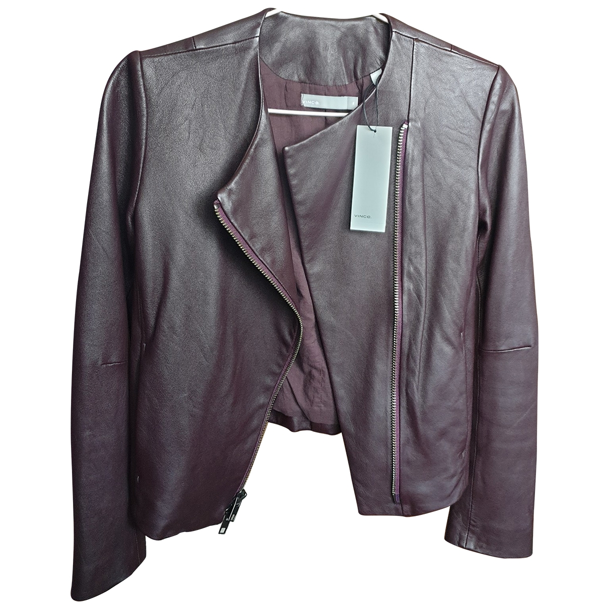 Vince \N Red Leather jacket for Women XS International
