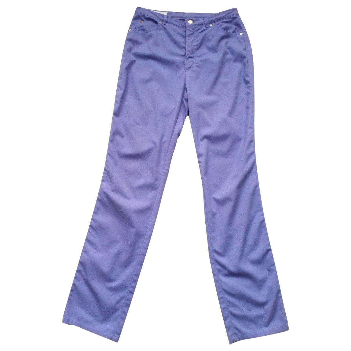 Escada \N Purple Cotton - elasthane Jeans for Women 38 FR
