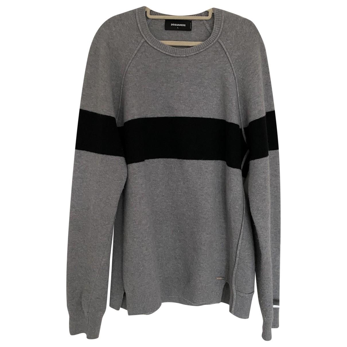 Dsquared2 \N Pullover.Westen.Sweatshirts  in  Grau Kaschmir
