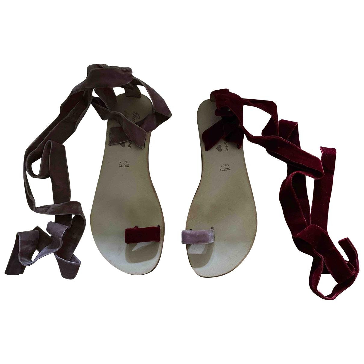 Gia Couture - Sandales   pour femme en velours - multicolore