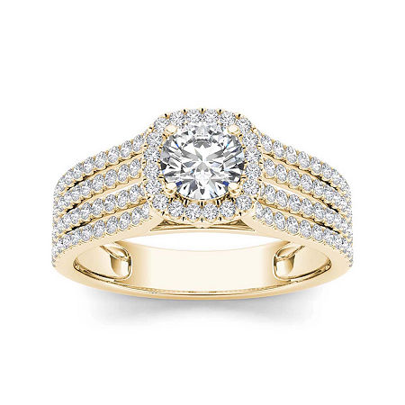 1 CT. T.W. Diamond 14K Yellow Gold Engagement Ring, 6 1/2 , No Color Family
