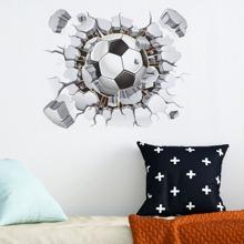 Kids 3D Football Print Wall Sticker