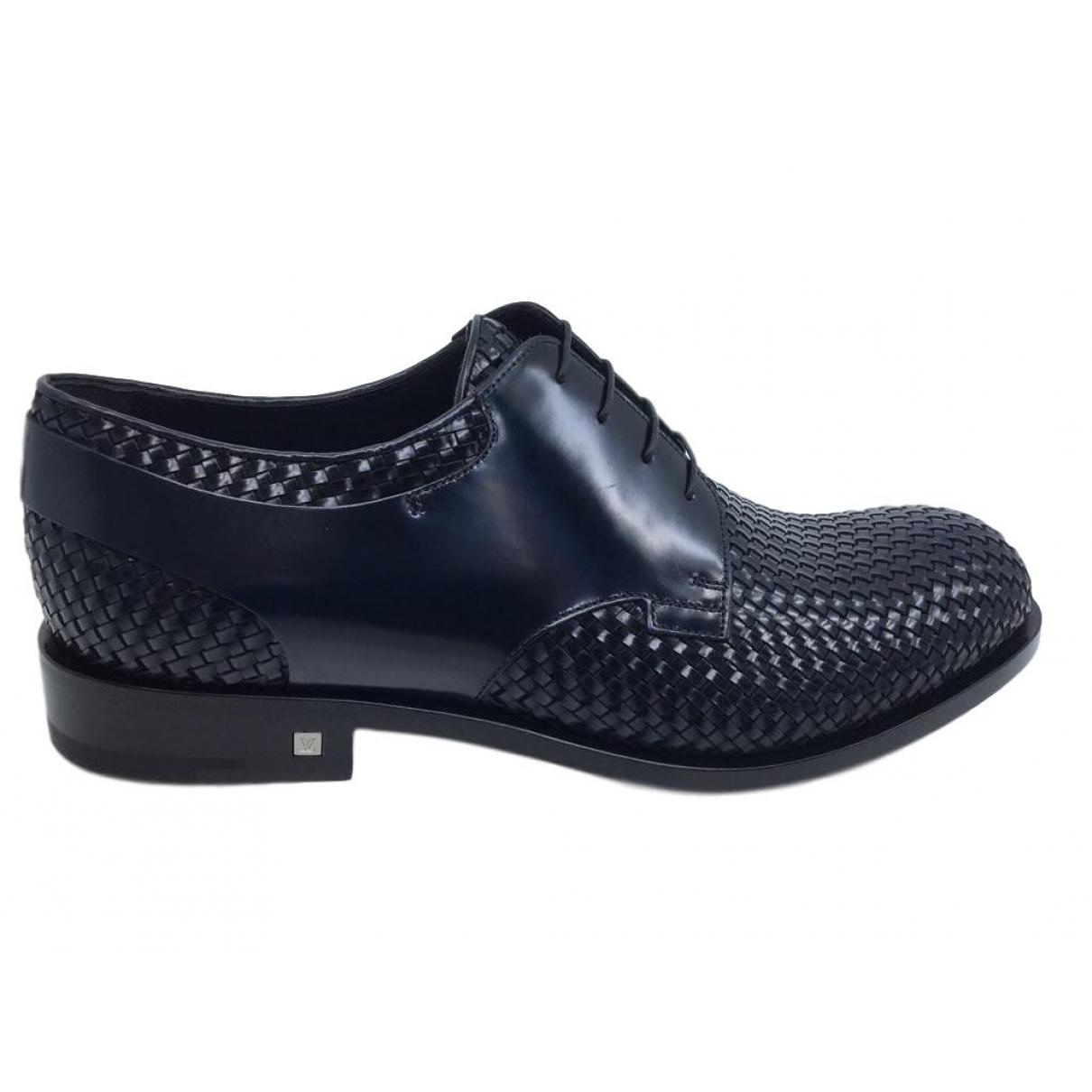 Louis Vuitton \N Schnuerschuhe in  Schwarz Leder