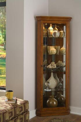 20206 Golden Oak Ed Corner Curio In Brown