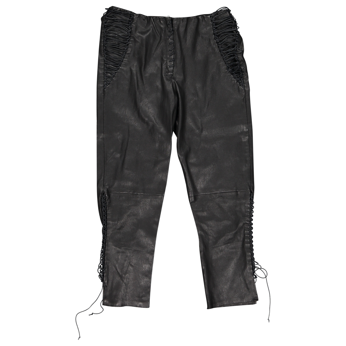 Isabel Marant \N Black Leather Trousers for Women 36 FR