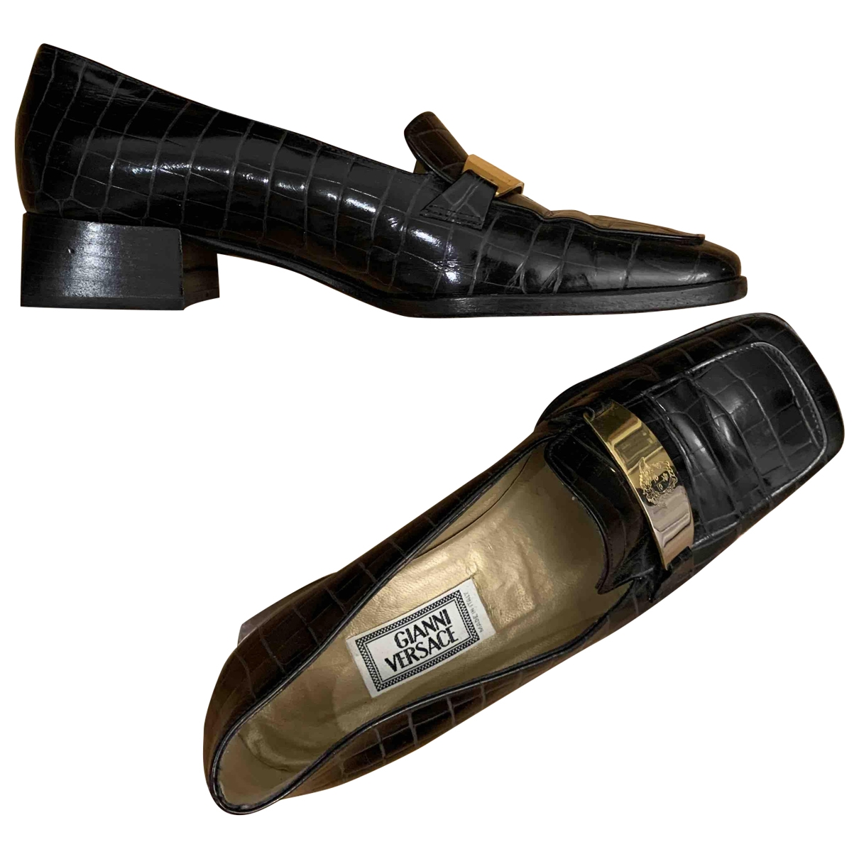 Gianni Versace \N Mokassins in  Schwarz Leder