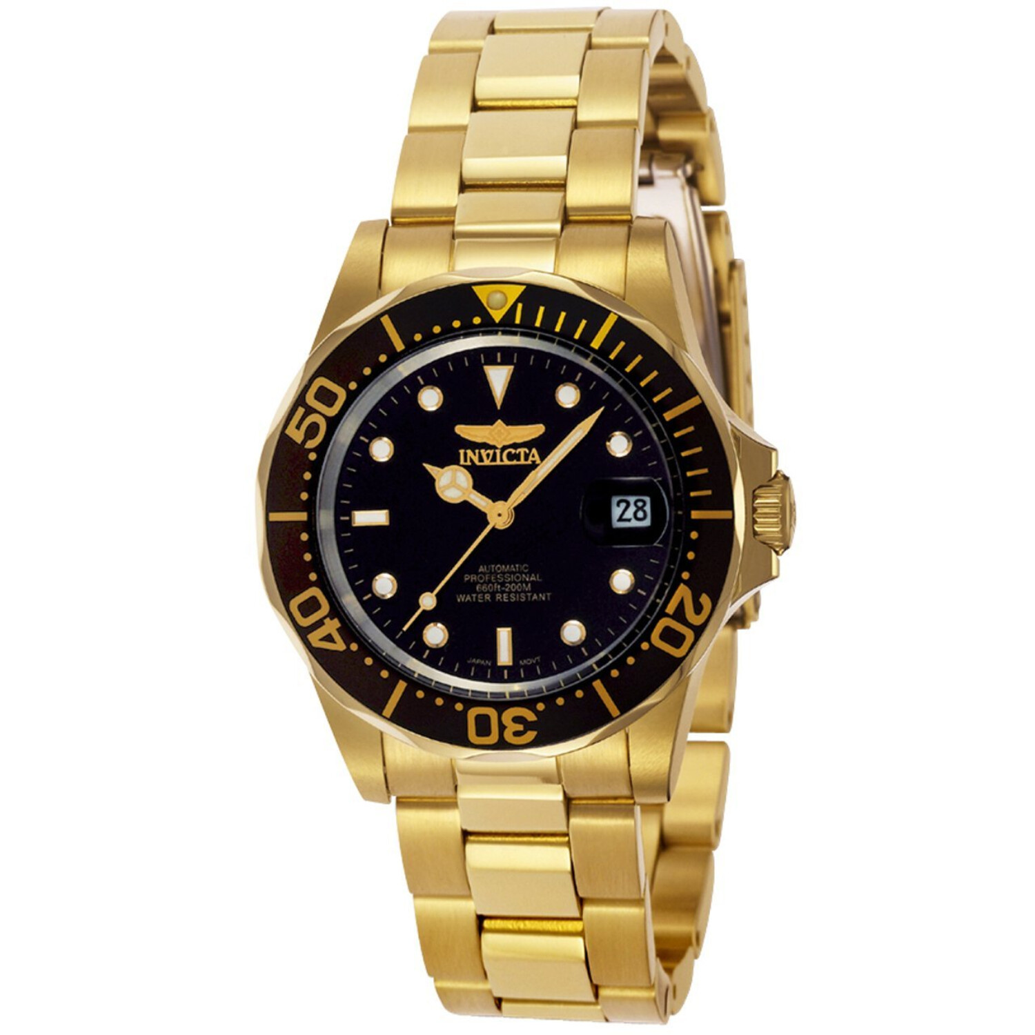 Invicta Men's Pro Diver 8929 Gold Stainless-Steel Plated Automatic Self Wind Diving Watch