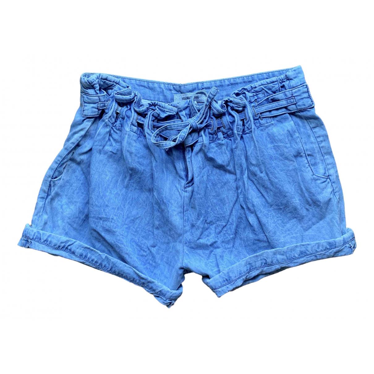 Helmut Lang \N Blue Denim - Jeans Shorts for Women 2 US