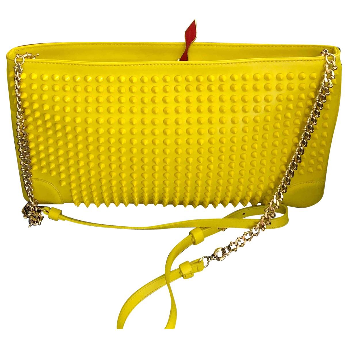 Christian Louboutin Loubiposh Yellow Leather handbag for Women \N