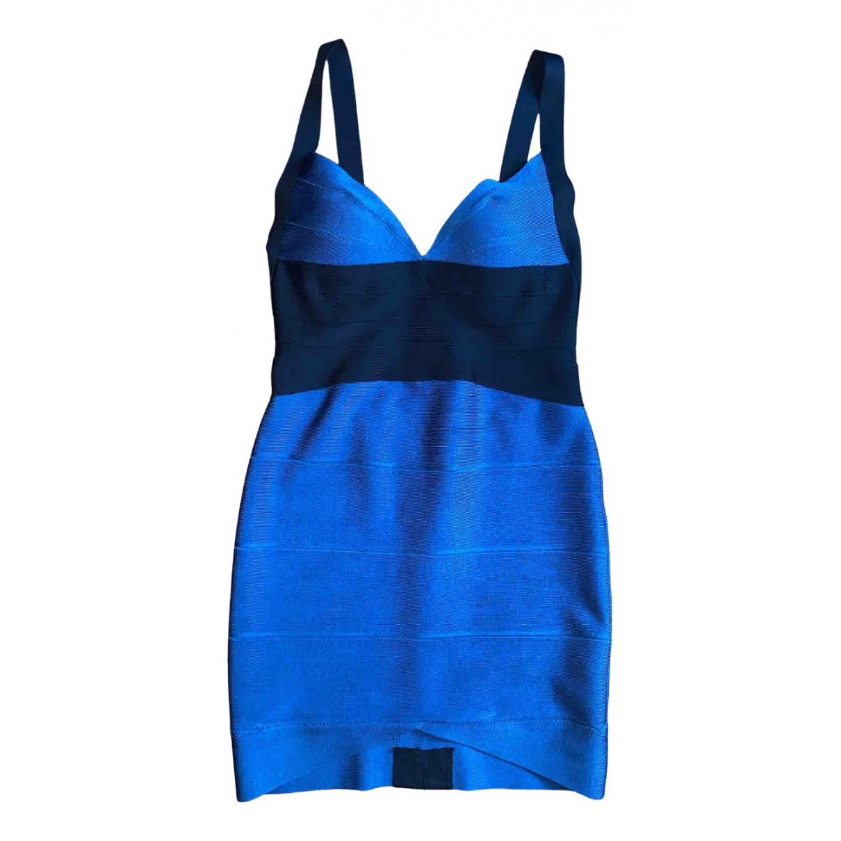 Herve Leger N Blue dress for Women 36 FR
