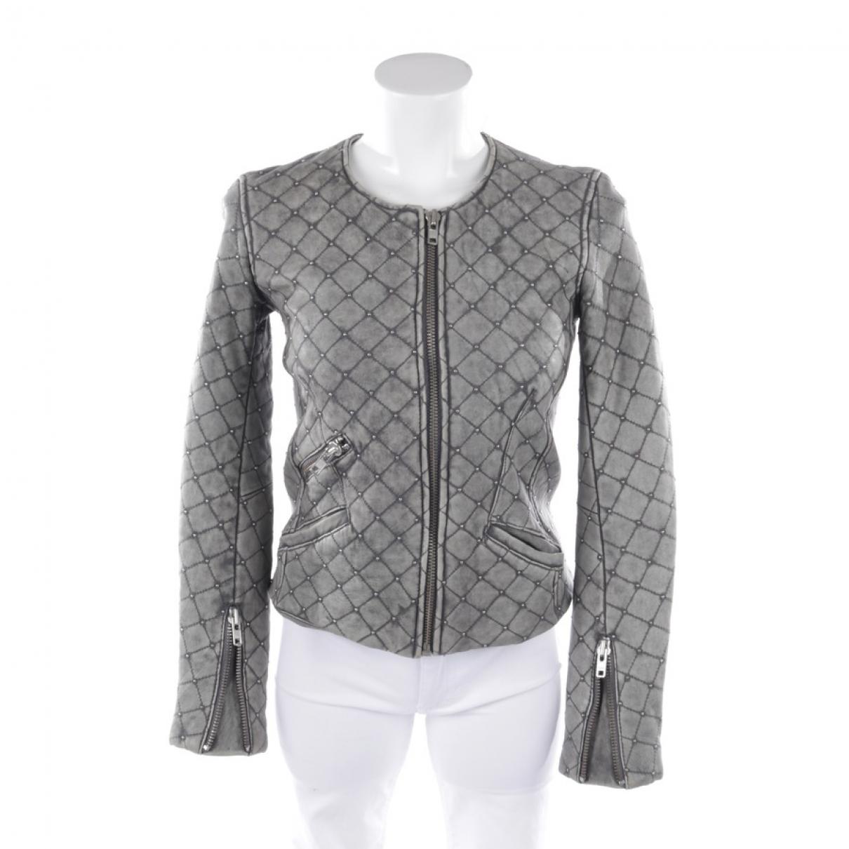 Iro - Veste   pour femme en cuir - gris
