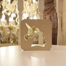 Lampe mit Einhorn Muster