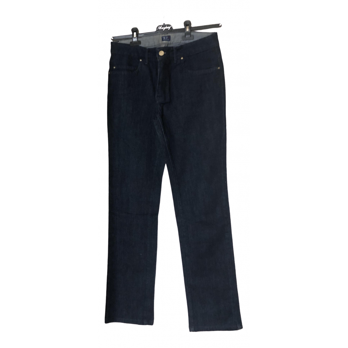 Trussardi Jeans \N Blue Cotton Trousers for Men 44 IT