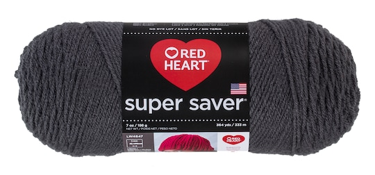 3 Pack of Red Heart® Super Saver® Yarn, Solid in Charcoal Black | 7 oz | Michaels®