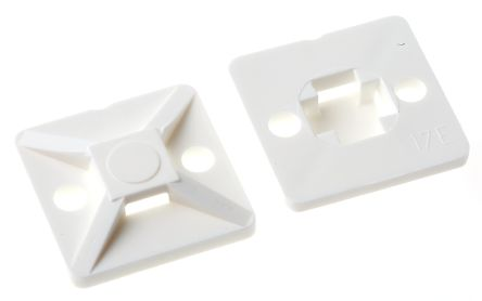 HellermannTyton Natural Cable Tie Mount 19 mm x 19mm, 4.1mm Max. Cable Tie Width
