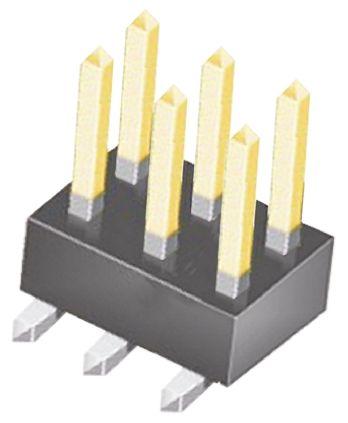 Samtec , TSM, 6 Way, 2 Row, Straight Pin Header