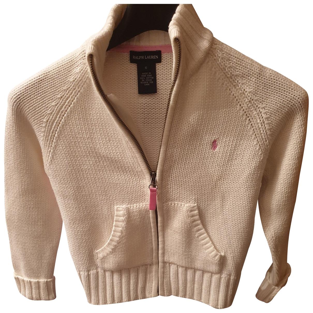 Ralph Lauren - Pull   pour enfant en coton - blanc